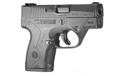"BERETTA NANO 9MM 3.07"" 6RD BLK 3DOT"